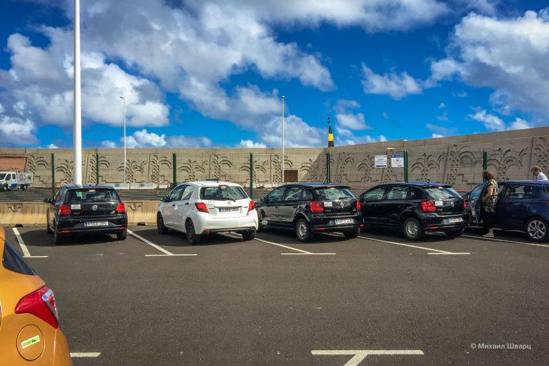 Парковка в порту Ла Гомеры
