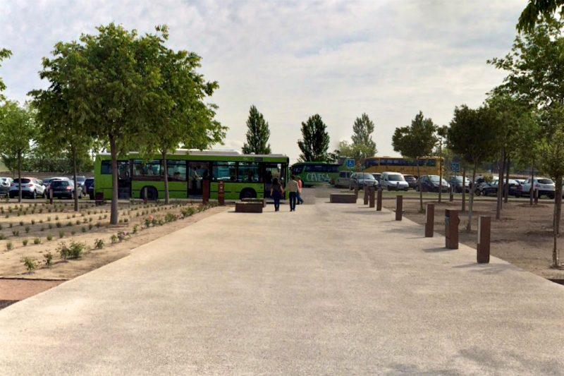 Желтый автобус ходит из Кордовы до музея, зеленый – между музеем и раскопками Мадина аз-Захра