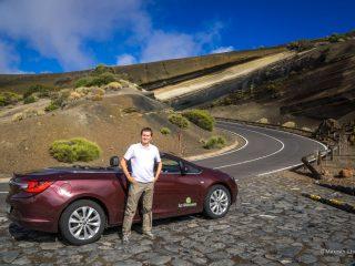На кабриолете в к вулкану Тейде на Тенерифе