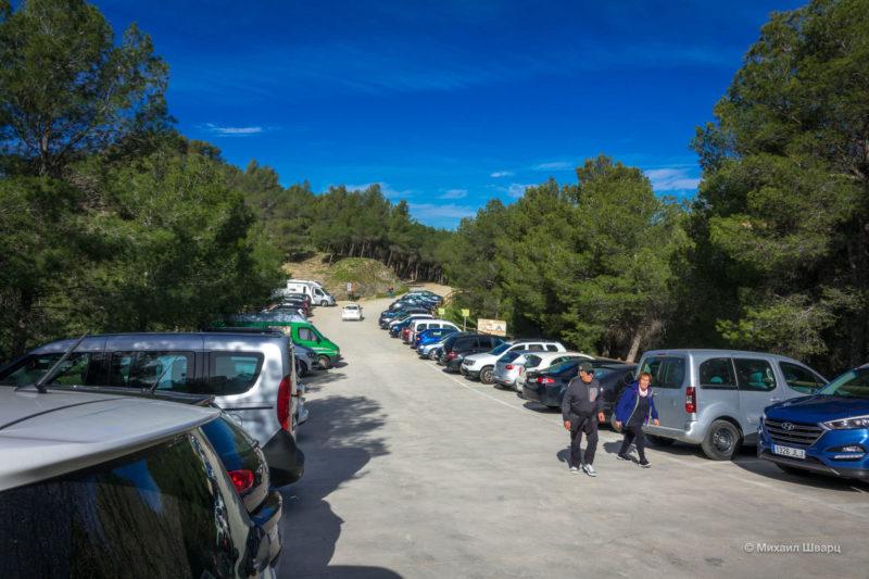 Парковка около Caminito del Rey