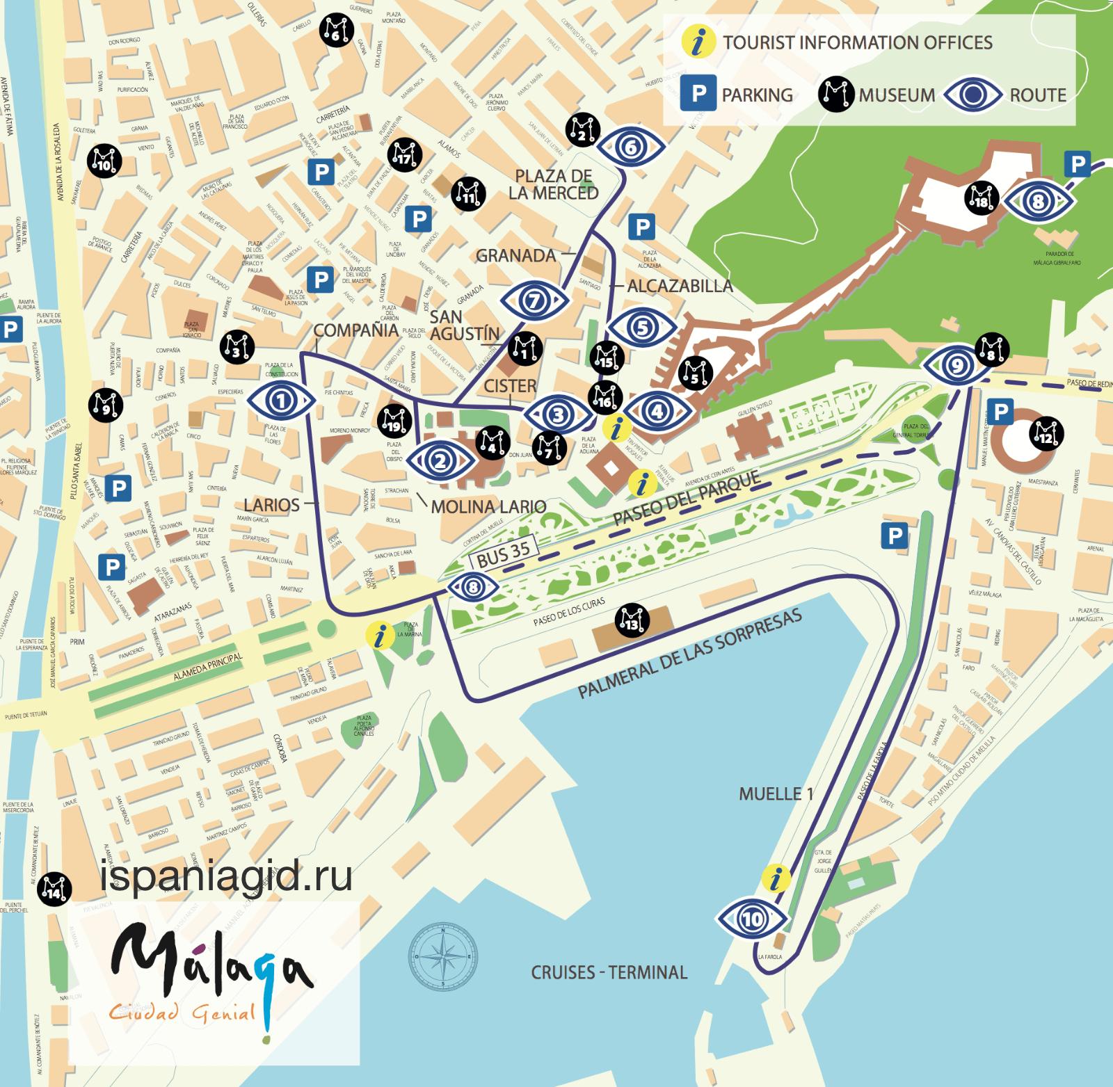 Маршрут по Малаге на 1 день