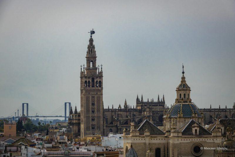 Вид на собор и колокольню