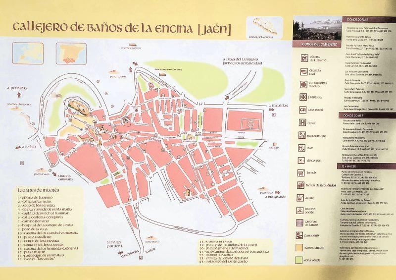 Карта города Baños de la Encina