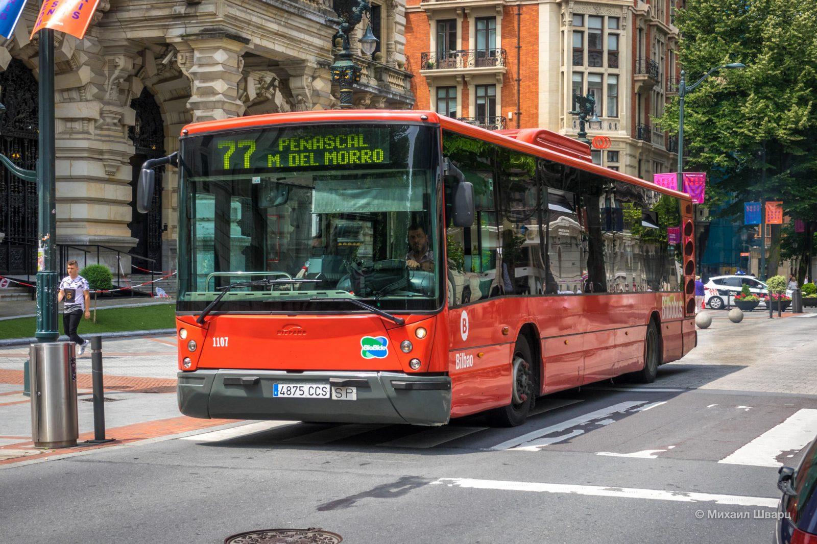 Городской автобус в Бильбао