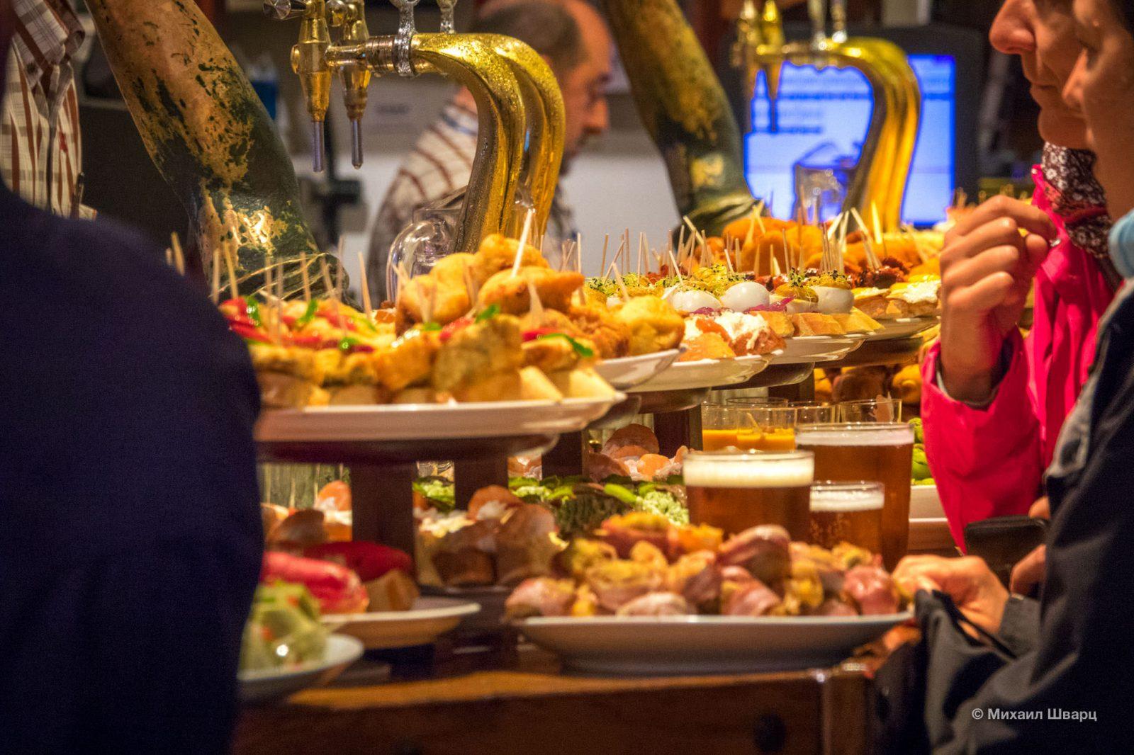 Пинчос-бары Сан-Себастьяна