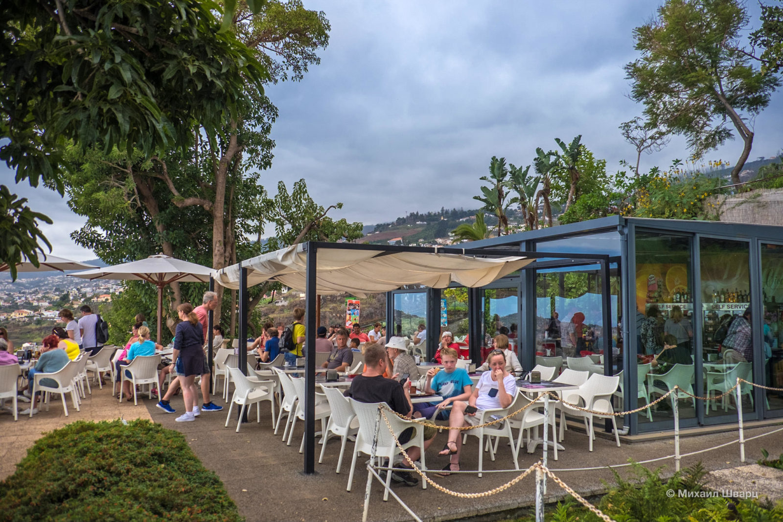 Кафе в ботаническом саду