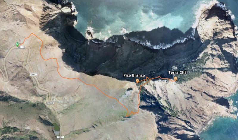 Схема маршрута к Белому пику и смотровой Терра-Шан
