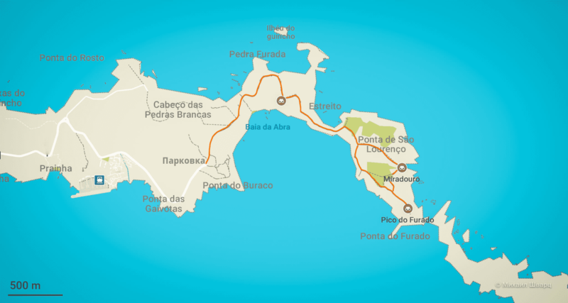 Трек Vereda da Ponta de São Lourenço (PR8)