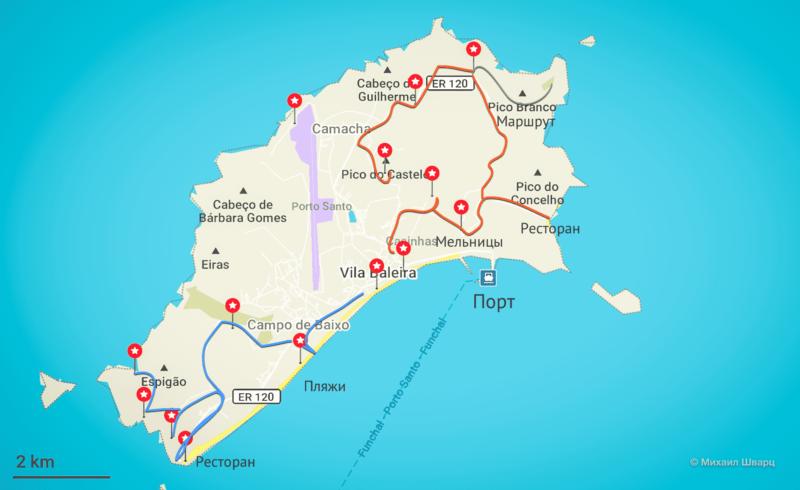 map porto santo