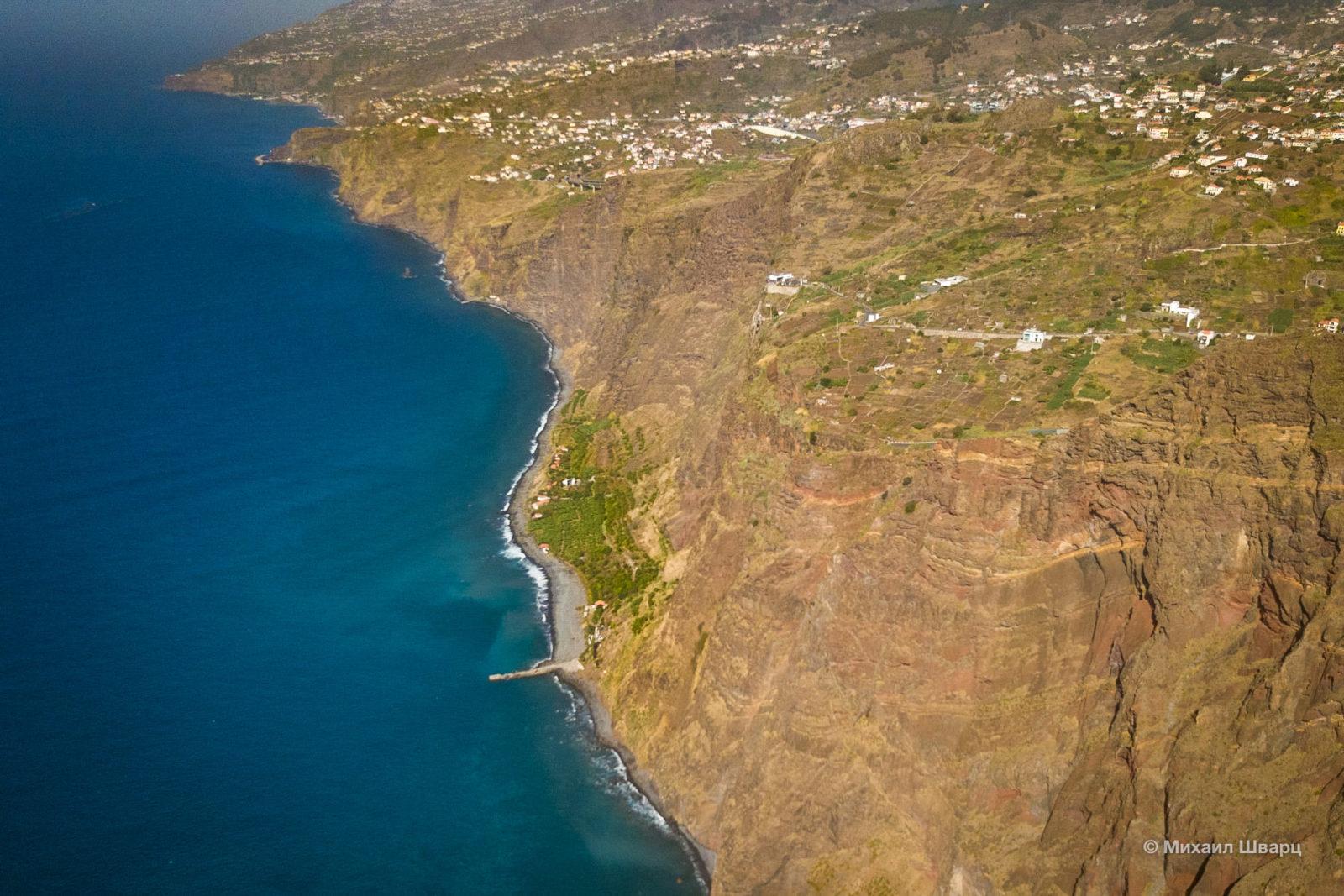 Участок побережья с высоты