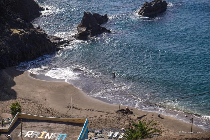 Prainha – единственный естественный песчаный пляж Мадейры