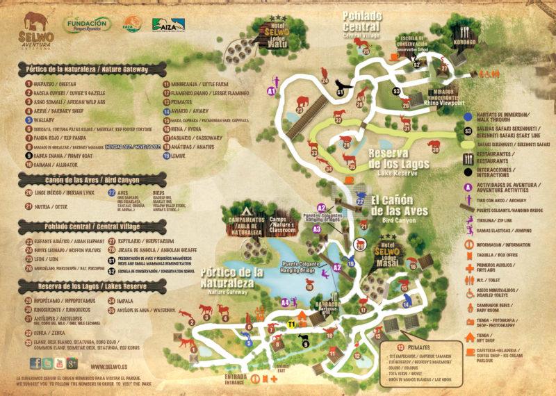 Схема парка Сельво Авентура