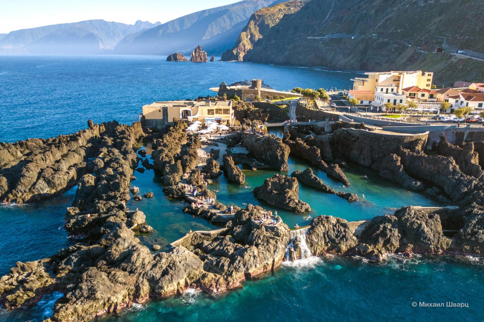 Видно ресторан Cachalote и форт Сан-Жуан-Батишта