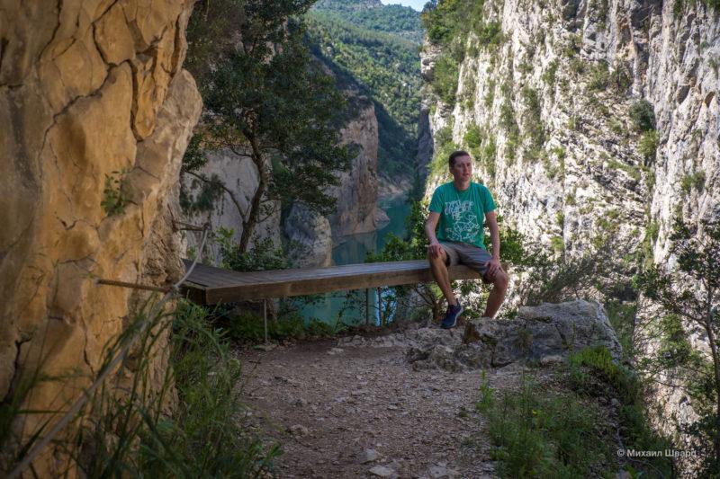 Опасная дорога Congost de Mont-rebei 9