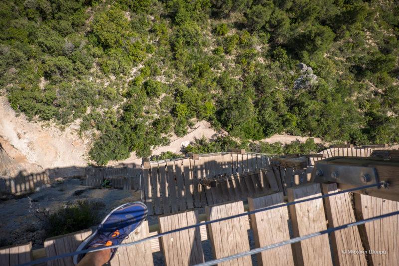 Опасная дорога Congost de Mont-rebei 23