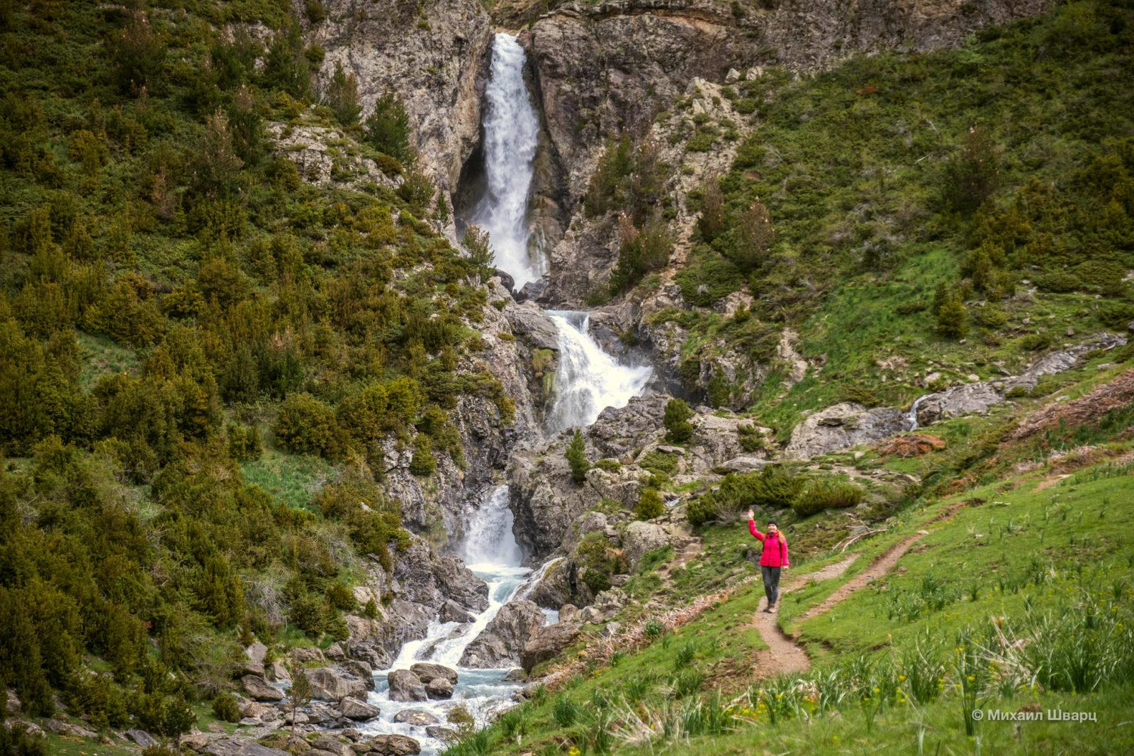 Водопады в долине Valle de Pineta