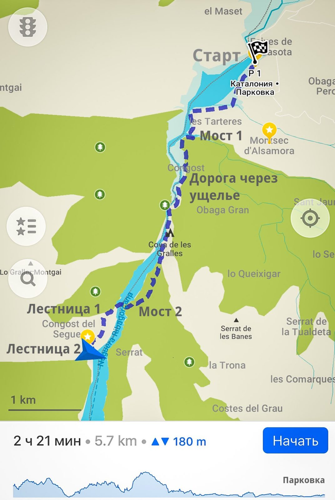 Опасная дорога Congost de Mont-rebei 31