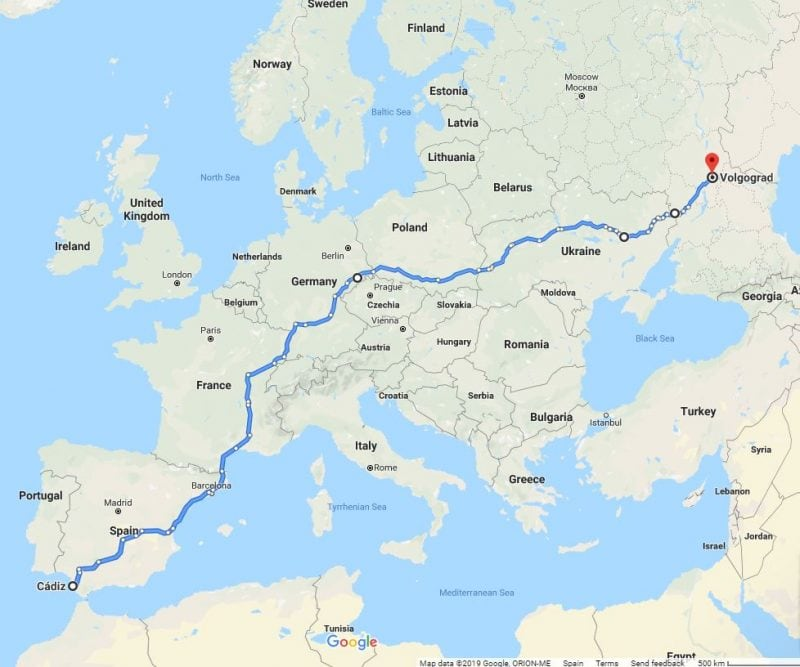 Как перевезти авто из России в Испанию 2