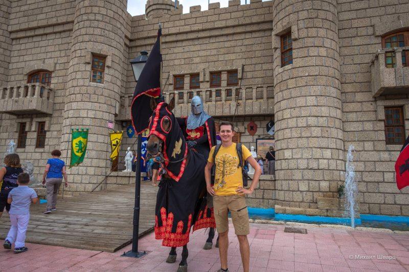 Рыцарь при входе в Сан Мигель