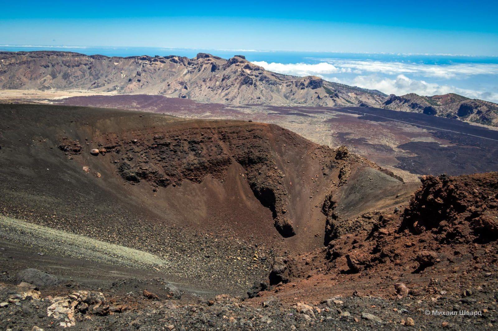 Маленький вулкан Narices del Teide (Нос Тейде)