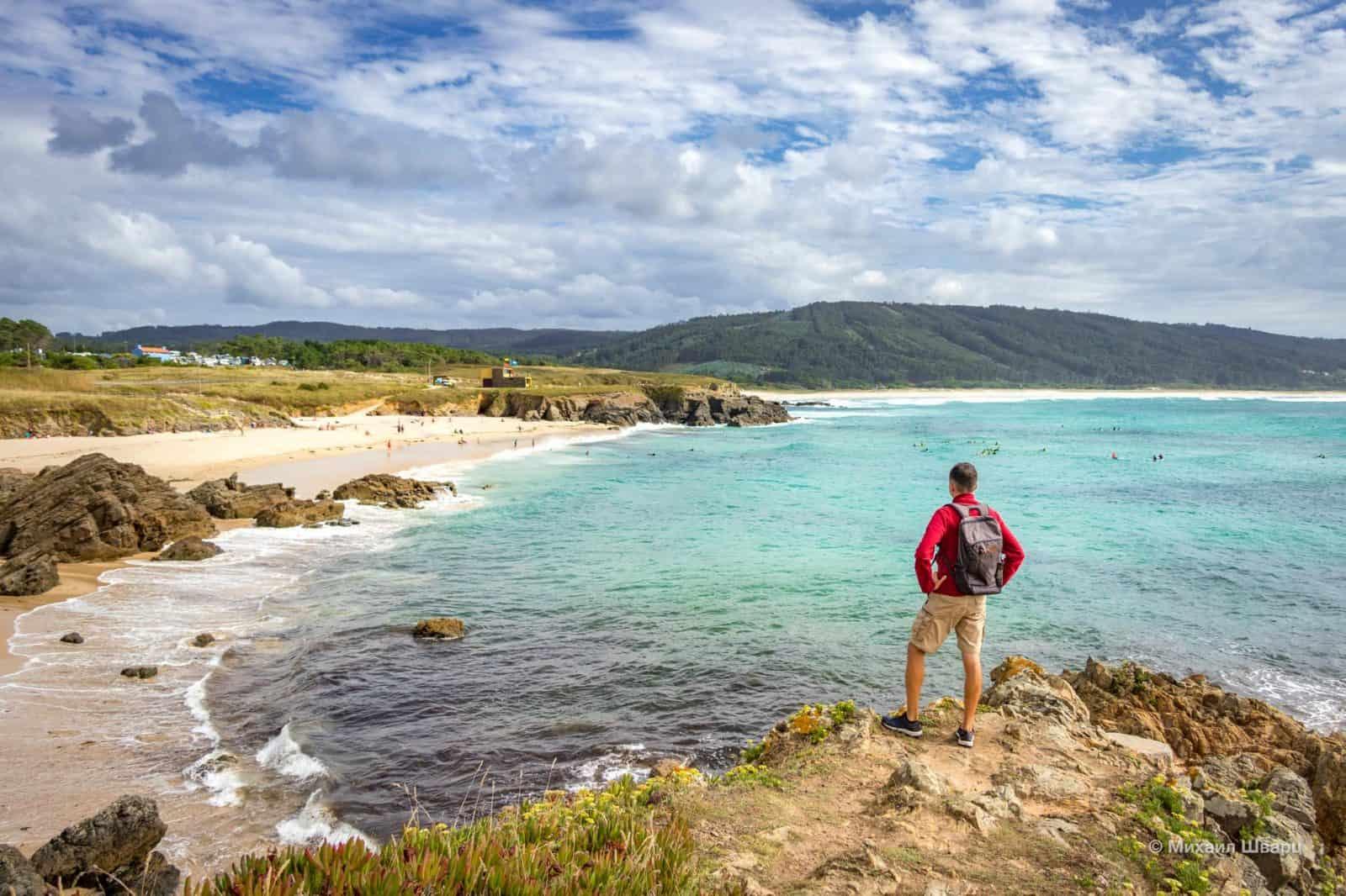 Я и рюкзак на Praia de Esmelle