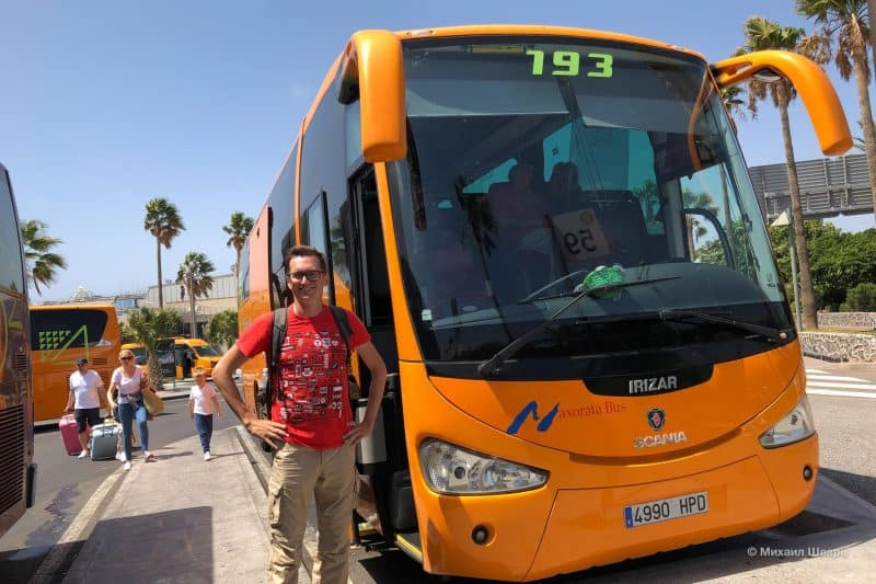 Дешевый трансфер на автобусе на Тенерифе