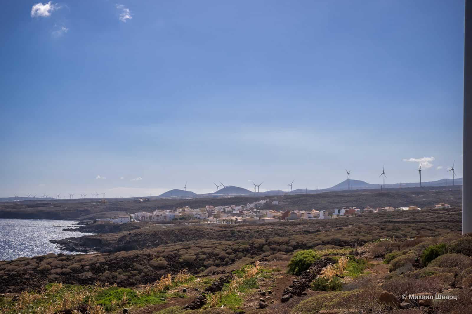 С плантаций видны городаLa Listada иLa Jaca