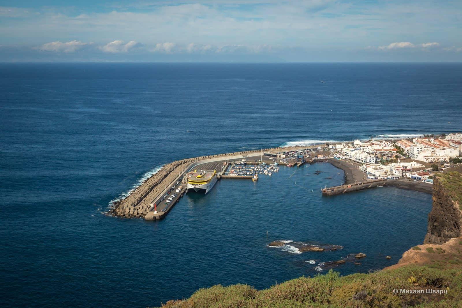 Рассматриваем порт Puerto de las Nieves