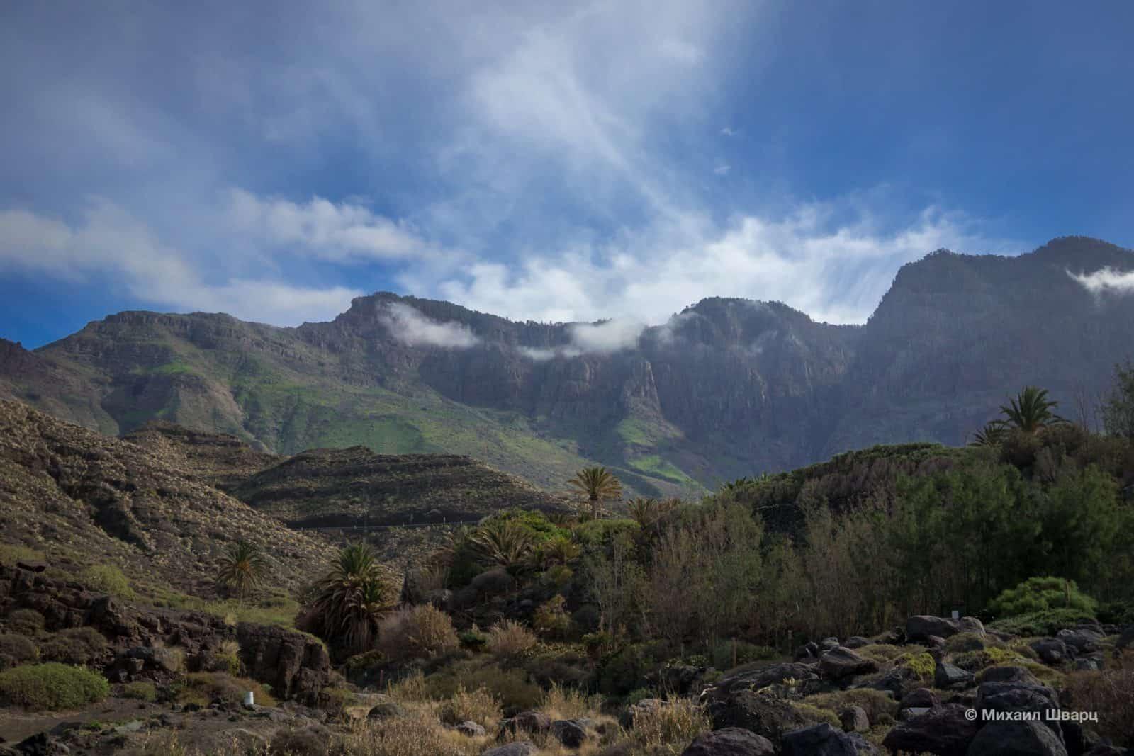 А сзади горы Tamadaba