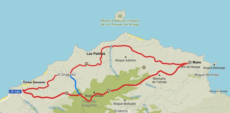Схема маршрутов 1,2 и 3