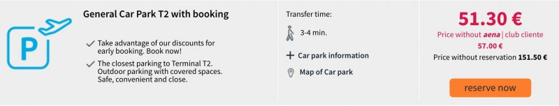Цена на неделю парковки в аэропорту Барселоны