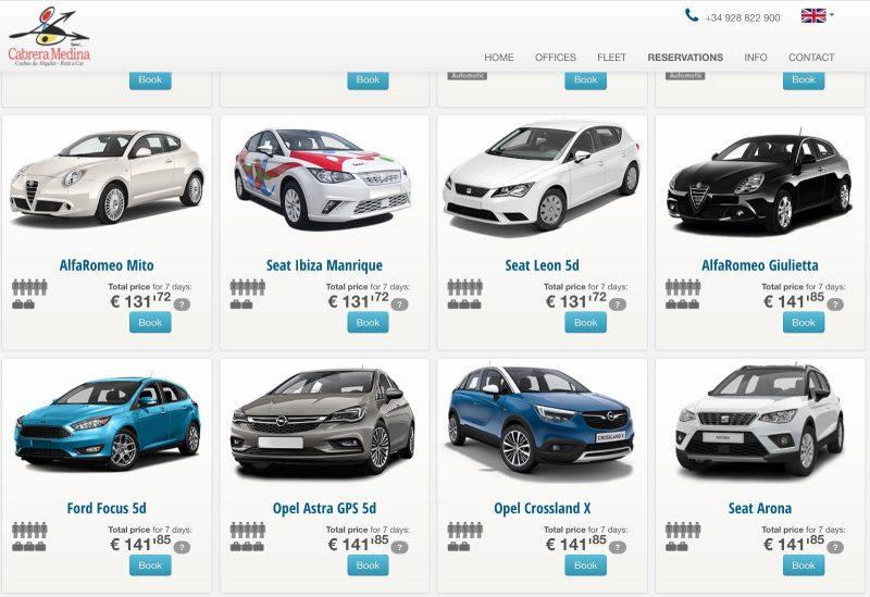Цены на аренду авто в Cicar на Лансароте