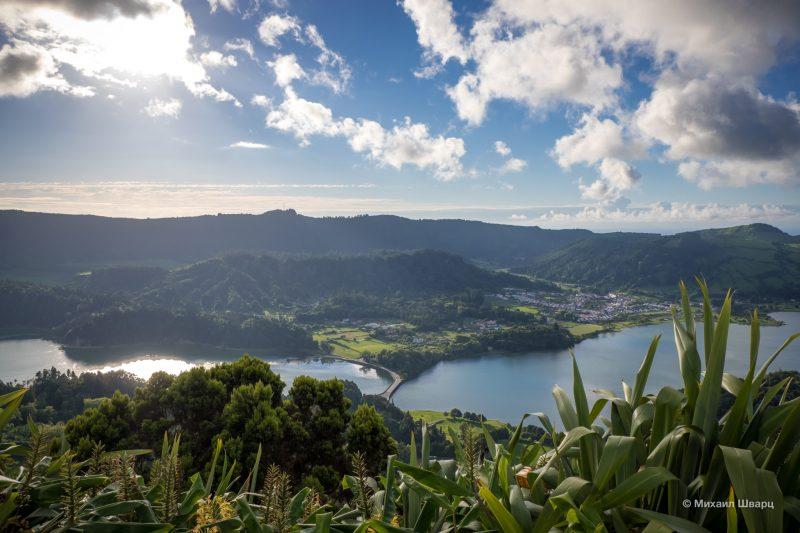 Озеро Сети-Сидадиш (Lagoa das Sete Cidades)