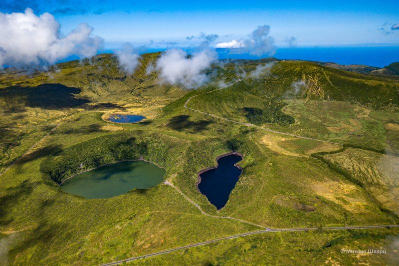 Озёра Negra, Comprida, Seca и Branca с высоты