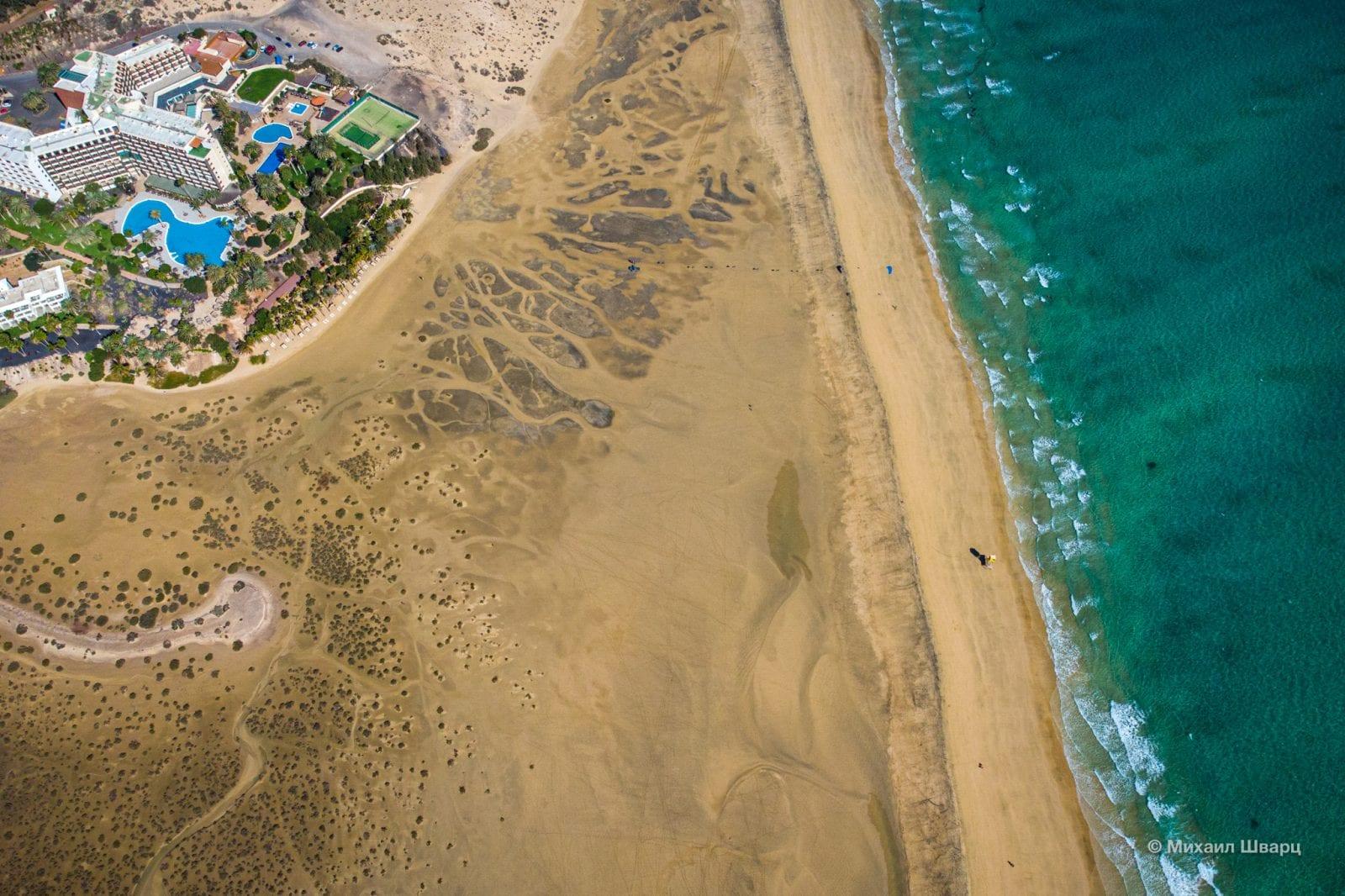 Бесконечный пляж Сотавенто де Хандия