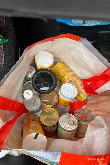 Пакет с продуктами