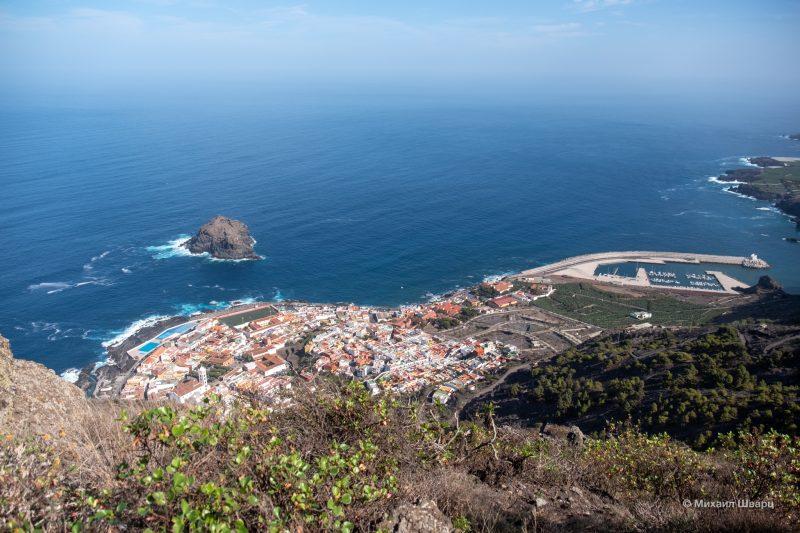 Панорама города со смотровой Mirador de Garachico