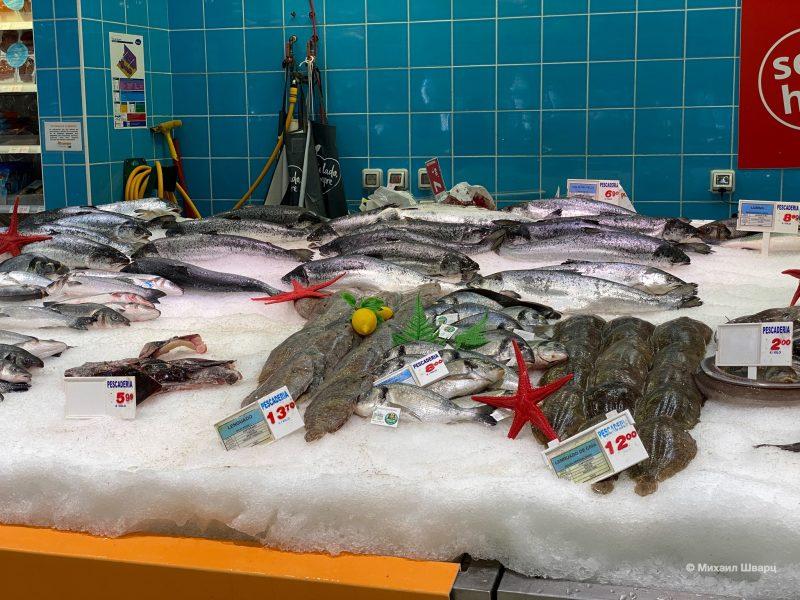 Цены на лосось, дораду, солею,
